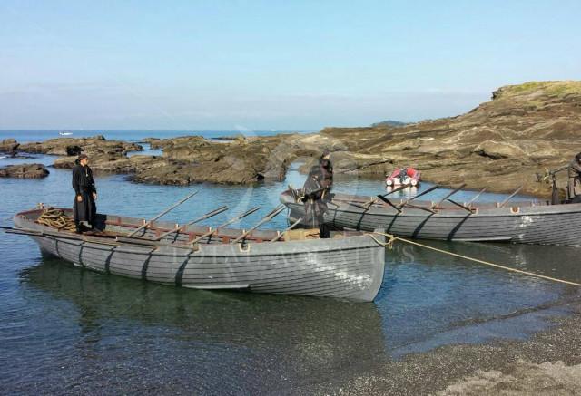 カッターボート木造船